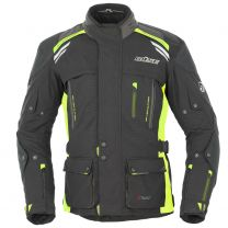 BÜSE HIGHLAND TEXTILE JACKET black / neon yellow